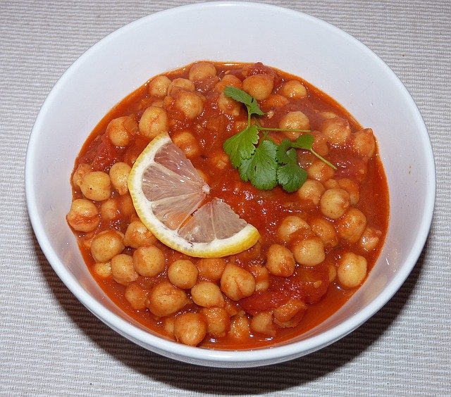 Chana masala- garbanzos con especias de la India